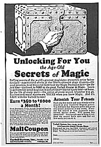 1927 LEARN MAGIC Ad - L@@K! (Image1)