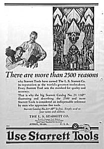1927 STARRETT TOOL Ad - ART DECO! (Image1)