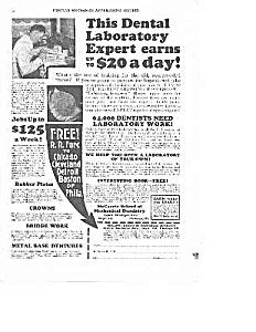 1927 MECHANICAL DENTISTRY/Denture Ad (Image1)