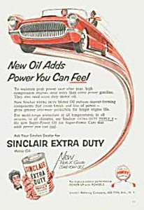 1955 SINCLAIR AUTO OIL Ad (Image1)