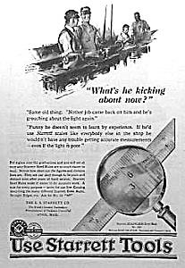 1924 STARRETT TOOL Ad L@@K! (Image1)