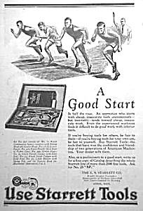 1926 STARRETT TOOL Ad L@@K! (Image1)