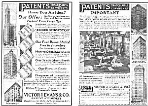 1925 Evans PATENT ATTORNEYS Magazine Ad (Image1)