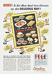 1944 Chocolate OVALTINE-SCHOOL THEME Ad (Image1)