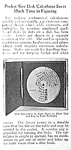 1925 POCKET ADDING CALCULATOR Mag Article (Image1)