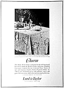 1926 VENICE LINEN - LACE Advertisement (Image1)