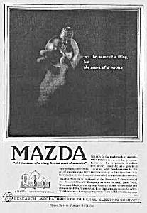 Wonderful 1918 Art Deco Mazda Light Bulb Ad
