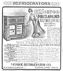 Cool 1901 MONROE REFRIGERATOR Mag. Ad (Image1)