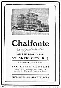1905 CHALFONTE HOTEL Atlantic City, N.J. Ad (Image1)