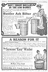 Cool 1905 WASHER & ASH SIFTER Kitchen Ads (Image1)