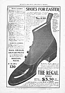 Great 1902 Button-Top REGAL SHOE Mag. Ad (Image1)