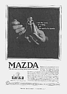 Gorgeous 1918 ART DECO Mazda Light Bulb Ad (Image1)