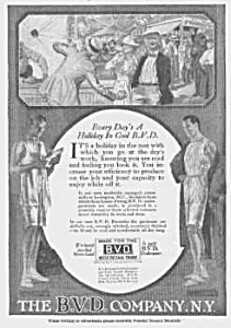 1918 B.v.d. Men's Underwear Ad