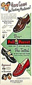 Color 1949 POLL PARROT SHOES Mag. Ad (Image1)