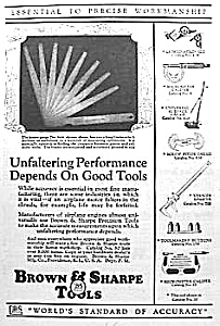 1928 BROWN & SHARPE Tool Ad L@@K! (Image1)