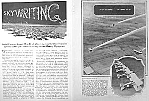 1925 SKYWRITING Aviation Mag. Article (Image1)