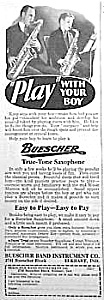 1929 Saxophone Music Room Ad L@@k