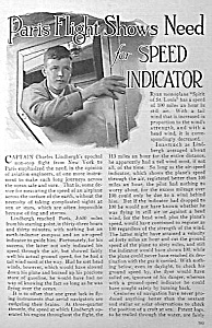 1927 LINDBERGH Lindy Aviation Mag. Article (Image1)