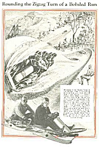 1932 BOBSLEDDING Illustrative Mag. Article (Image1)