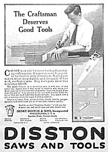 1917 DISSTON Saw - Tool Ad (Image1)