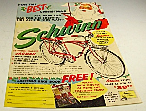 1958 Christmas Schwinn Mark Ii Jaguar Bicycle Magazine Ad