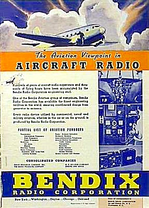 Nice 1937 Bendix Aircraft Radio Aviation Ad