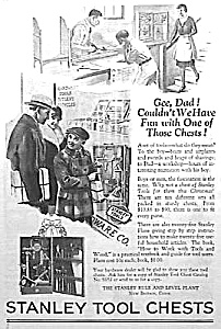 1929 Stanley Chests Of Tools Ad