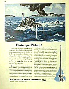 Cool 1944 SUBMARINE PERISCOPE Mag. Ad (Image1)