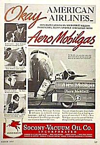 1937 SOCONY-VACUUM Mobilgas Aviation Ad (Image1)