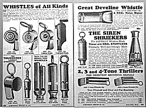 1929 WHISTLES/SIREN SHRIEKERS Ad L@@K! (Image1)