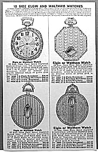 1929 ELGIN+WALTHAM Pocket Watch Ad L@@K! (Image1)