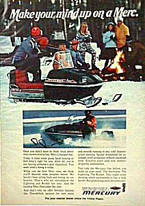 1971 MERCURY SNOWMOBILE Color Magazine Ad (Image1)