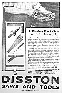 1918 DISSTON SAW/Tool Ad L@@K! (Image1)