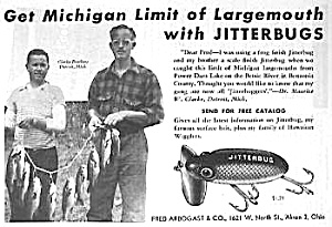 1946 Fred Arbogast Jitterbug Fishing Lure Ad