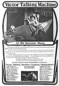 1904 VICTOR TALKING MACH Horn Phonograph Ad (Image1)
