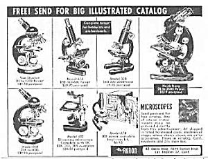 1953 AKRON MICROSCOPE Magazine Ad (Image1)