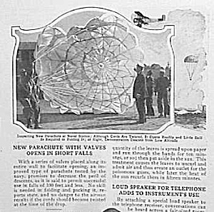 1926 Parachute - Skydiving Mag. Article
