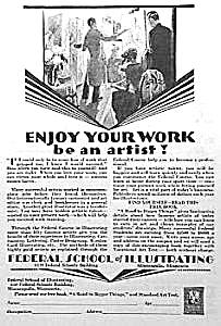 1930 ART DECO Art School Mag. Ad L@@K! (Image1)