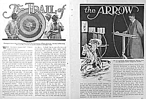 1929 ARCHERY Sports Magazine Article! (Image1)