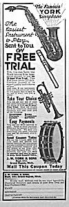 1922 Saxophone+ Music Room Ad