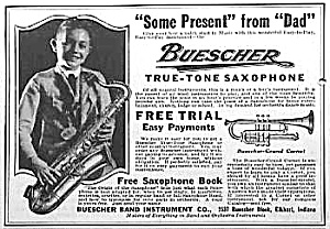 1922 Saxophone Music Room Ad
