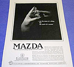 Gorgeous 1919 ART DECO Mazda Light Bulb Ad (Image1)