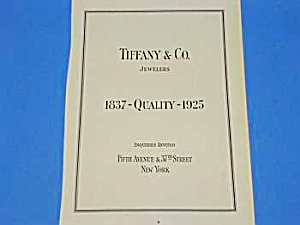 1925 TIFFANY & Co. Jewelers Magazine Ad (Image1)