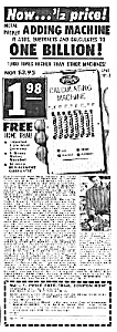 1958 ADDING MACHINE - Calculator Mag. Ad (Image1)