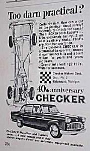 1963 CHECKER Auto Car Ad (Image1)