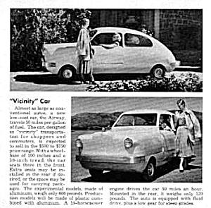 1949 AIRWAY MINI CAR Magazine Article (Image1)