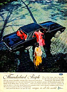 1962 FORD THUNDERBIRD T-BIRD Color Auto Ad (Image1)