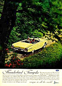 1962 FORD THUNDERBIRD T-BIRD CONV. Color Auto Ad (Image1)