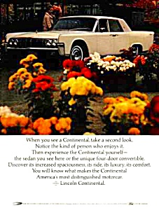 1964 LINCOLN CONTINENTAL Auto Ad (Image1)