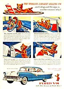 1956 FORD V-8 FORDOR VICTORIA Color Auto Ad (Image1)
